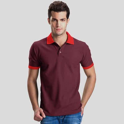 Polo Republica Abrud Polo Shirt Men's Polo Shirt Polo Republica Burgundy Red S