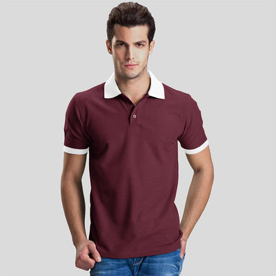 Polo Republica Abrud Polo Shirt Men's Polo Shirt Polo Republica Burgundy White S
