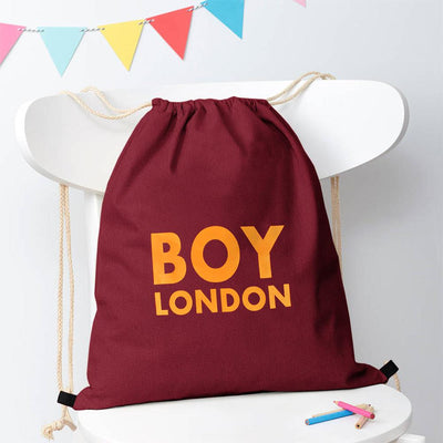 Polo Republica London Boy Drawstring Bag Drawstring Bag Polo Republica Burgundy Yellow