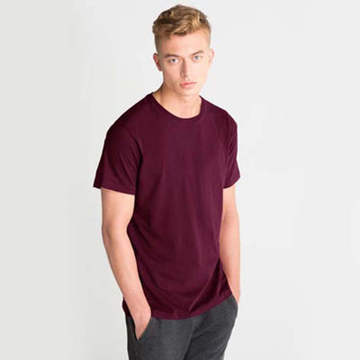 LE Foldpal Short Sleeve Tee Shirt Men's Tee Shirt Image Burgundy 2XL