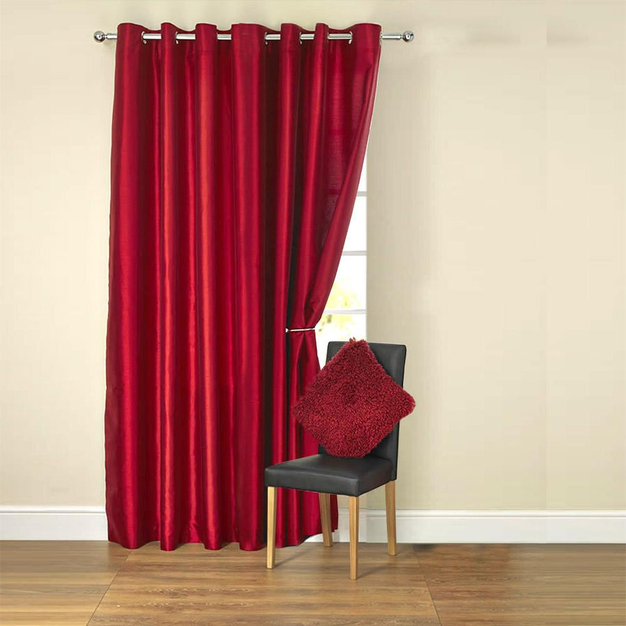 Worcester Rod Pocket Plaid Sheer Polyester Curtain