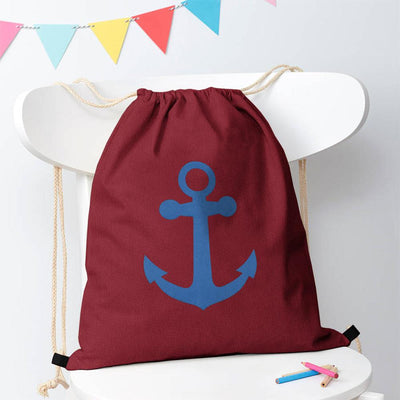 Polo Republica Ship Langar Drawstring Bag Drawstring Bag Polo Republica Burgundy