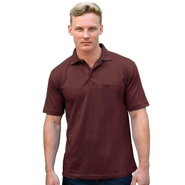 Camrid Essential Short Sleeve Minor Fault Polo Shirt Minor Fault Image Burgundy L