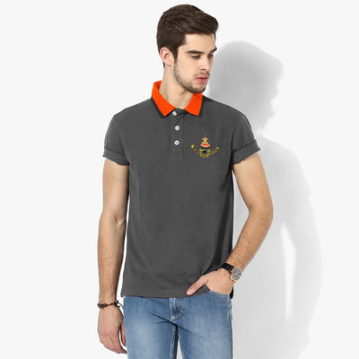 Polo Republica Selangor Polo Shirt Men's Polo Shirt Polo Republica Charcoal Orange S