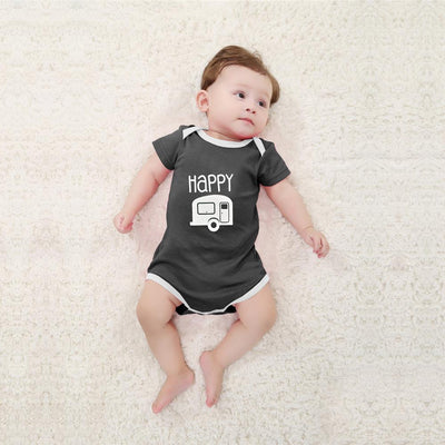 Polo Republica Happy Baby Romper Babywear Polo Republica Charcoal White 0-3 Months