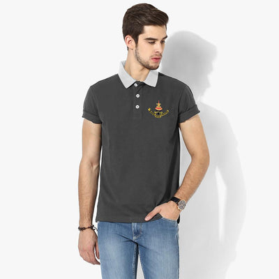Polo Republica Selangor Polo Shirt Men's Polo Shirt Polo Republica Charcoal White S