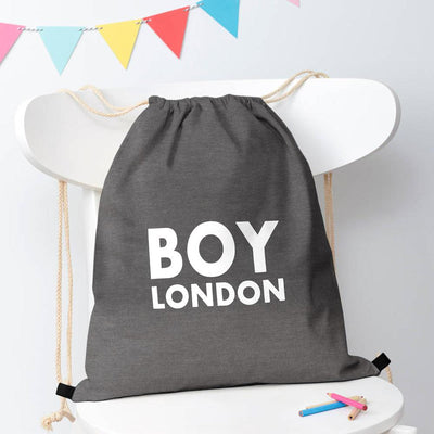 Polo Republica London Boy Drawstring Bag Drawstring Bag Polo Republica Charcoal White