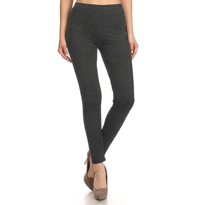 HUD Women's Buttery Soft Solid Leggings Women's Trousers MHJ Charcoal S
