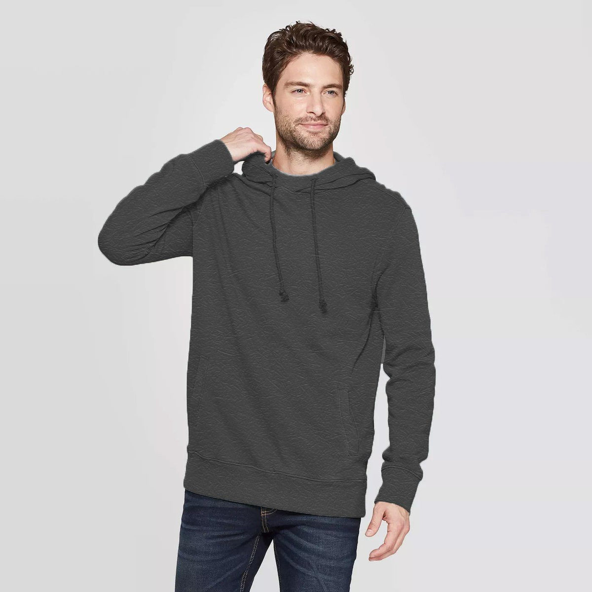 CR Men's 10-16A20 Terry Pullover Hoodie Men's Pullover Hoodie SRK Charcoal XS