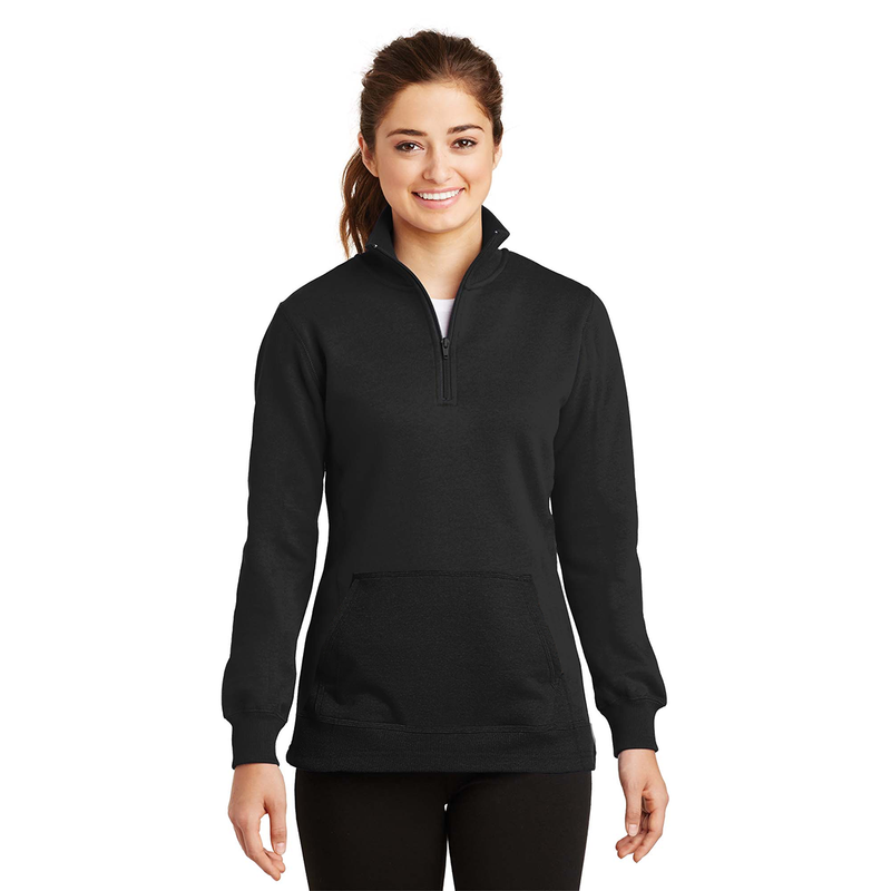 LG Cut Label Women's 1/4 Zipper Solid Fleece Sweat Shirt