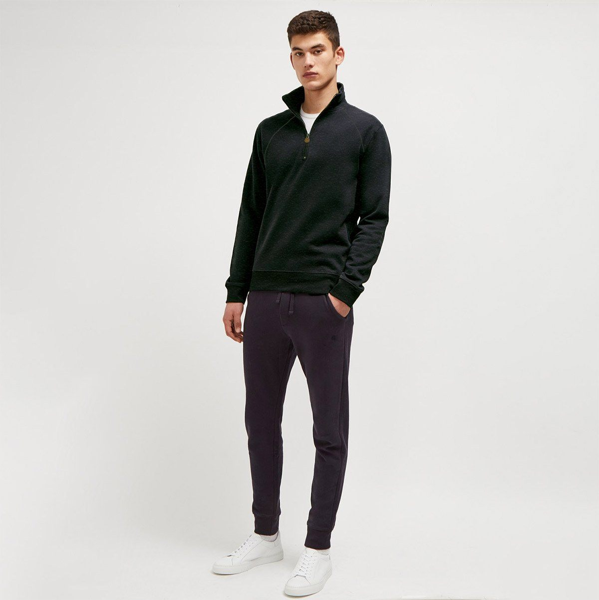 FR Men's Cut Label Quarter Zipper Neck Sweat Shirt