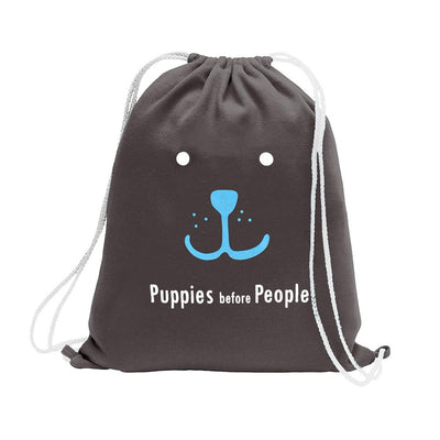 Polo Republica Puppies Before People Drawstring Bag Drawstring Bag Polo Republica Charcoal Sky