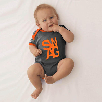 Polo Republica Swaggar Baby Romper Babywear Polo Republica Charcoal 0-3 Months