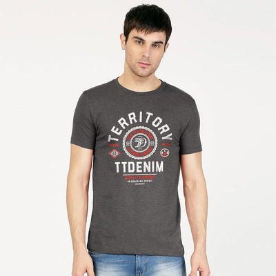 TT Denim Reg 06 Tee Shirt Men's Tee Shirt Fiza Charcoal XS