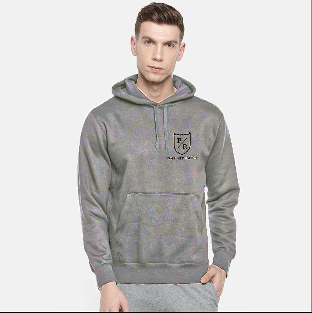 Polo Republica Men's Riverside Fleece Pullover Hoodie Men's Pullover Hoodie ASE Charcoal S