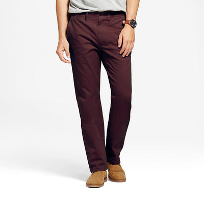 TES Moriya Slim Stretch Chino Pants Men's Chino NMA Burgundy 29 32