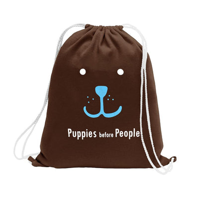 Polo Republica Puppies Before People Drawstring Bag Drawstring Bag Polo Republica Chocolate Sky