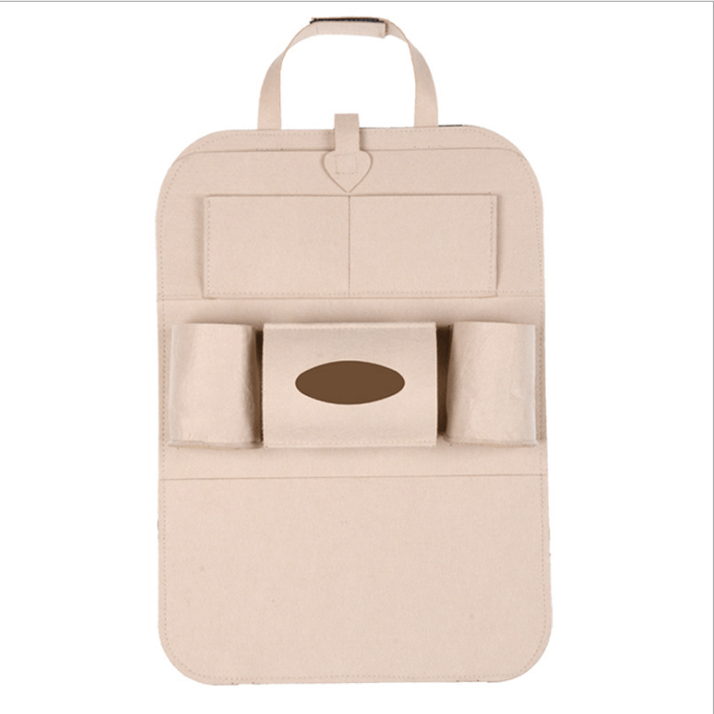 Multi-Pocket Car Seat Back Organiser General Accessories Sunshine China Cream