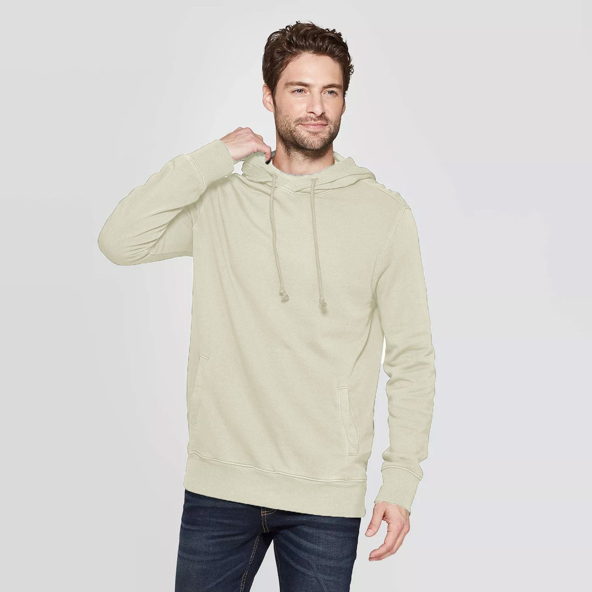 CR Men's 10-16A20 Terry Pullover Hoodie Men's Pullover Hoodie SRK Cream XS