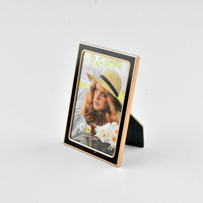 Black N Gold Medium Size Photo Frame Home Decor CPUQ D2