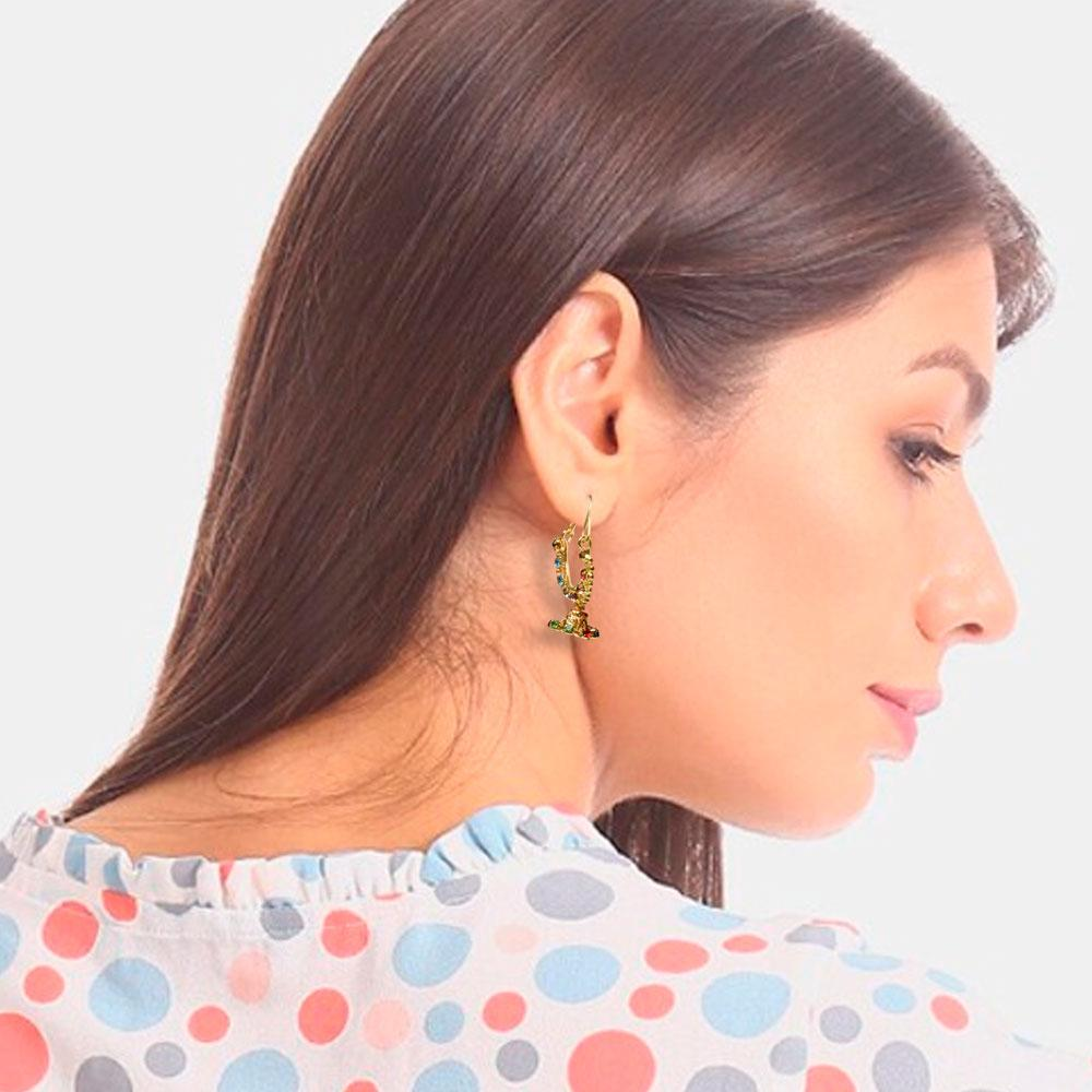 Women's Fashion Gold Hoop Earring Jewellery CPUQ