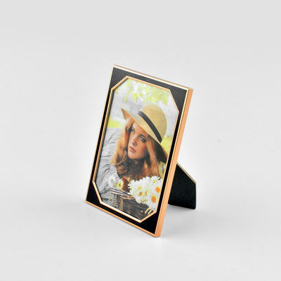 Black N Gold Medium Size Photo Frame Home Decor CPUQ D5