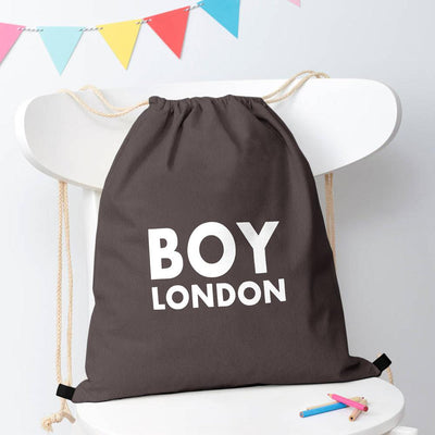 Polo Republica London Boy Drawstring Bag Drawstring Bag Polo Republica Dark Graphite White