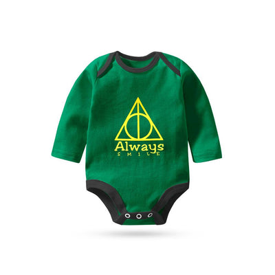 Polo Republica Always Smile Long Sleeve Pique Baby Romper Babywear Polo Republica Dark Green Black 0-3 Months