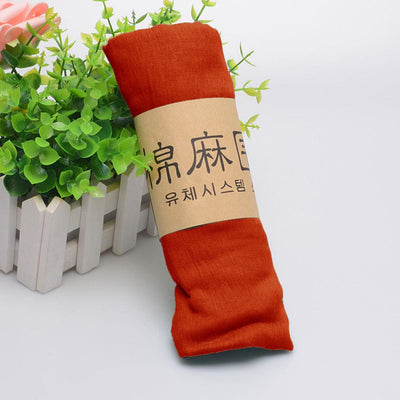 Alsleben Women Beautiful Silky Scarf Women's Accessories Sunshine China Dark Orange