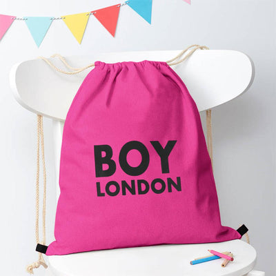 Polo Republica London Boy Drawstring Bag Drawstring Bag Polo Republica Dark Pink Black