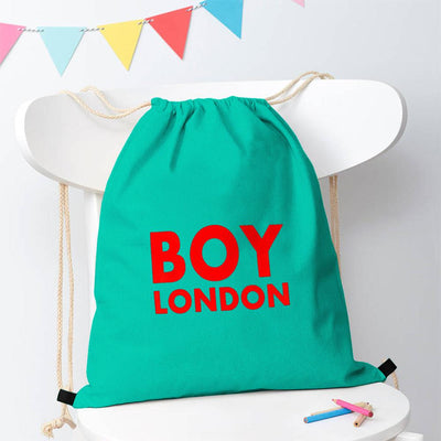 Polo Republica London Boy Drawstring Bag Drawstring Bag Polo Republica Dark Turquoise Red