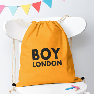 Polo Republica London Boy Drawstring Bag Drawstring Bag Polo Republica Deep Yellow Black
