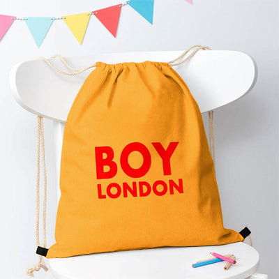 Polo Republica London Boy Drawstring Bag Drawstring Bag Polo Republica Deep Yellow Red