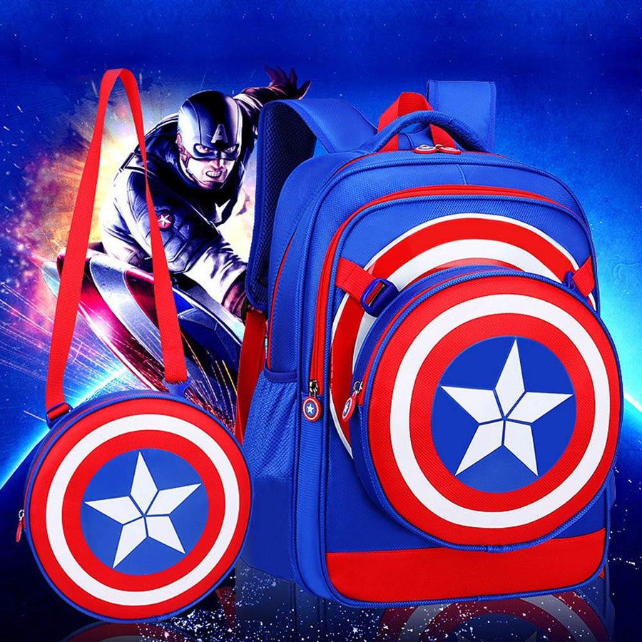 Captain America School Backpack Set