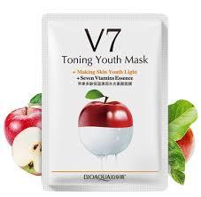 V7 Toning Youth Vitamins Essence Face Mask Health & Beauty Sunshine China Apple