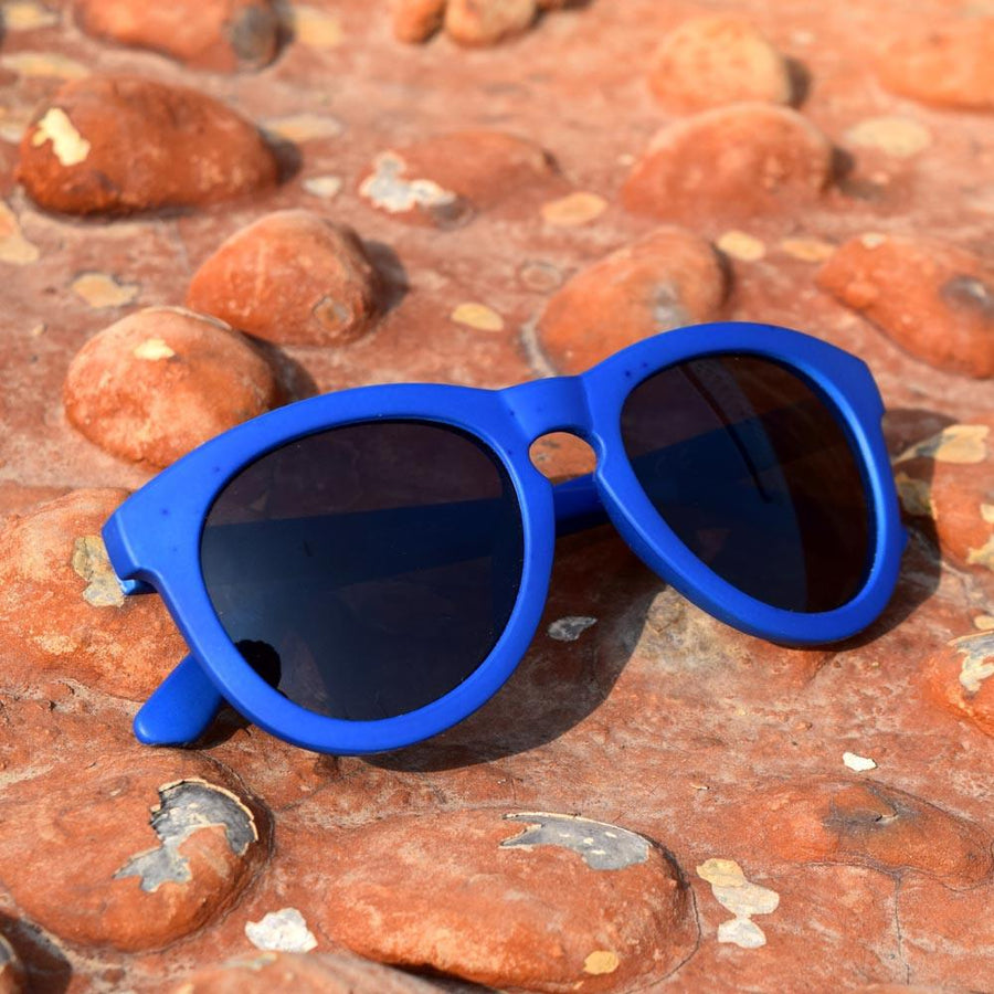Blue Mate Frame with Black Sunglasses - ExportLeftovers.com