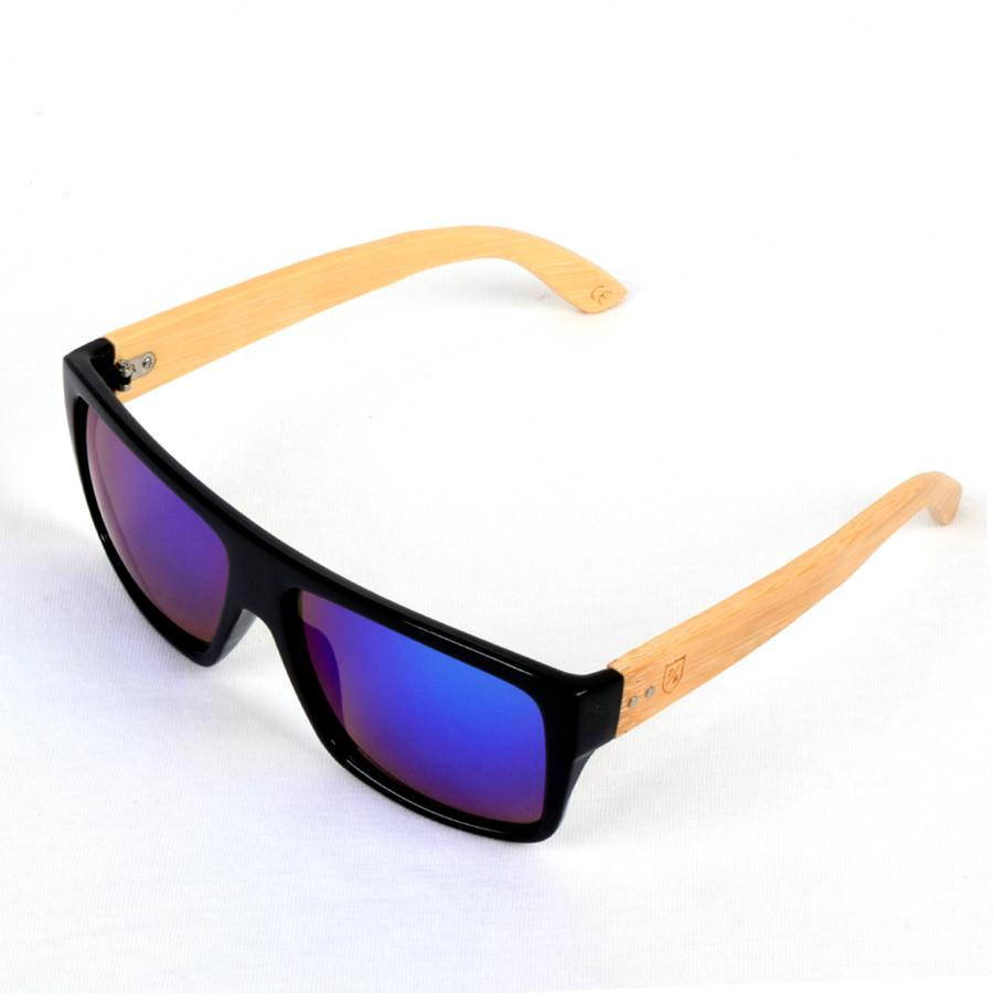 Polo Republica (1033MB-2) Bereki Black Frame Bamboo Temple Sunglasses - ExportLeftovers.com
