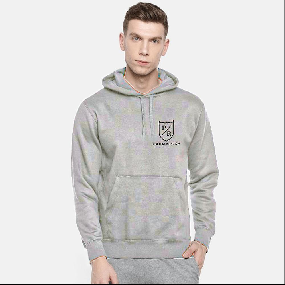 Polo Republica Men's Riverside Fleece Pullover Hoodie Men's Pullover Hoodie ASE Silver Marl S