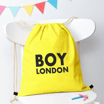 Polo Republica London Boy Drawstring Bag Drawstring Bag Polo Republica Florescent Yellow Black