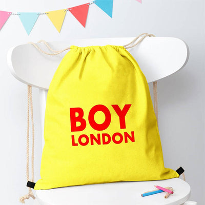 Polo Republica London Boy Drawstring Bag Drawstring Bag Polo Republica Florescent Yellow Red