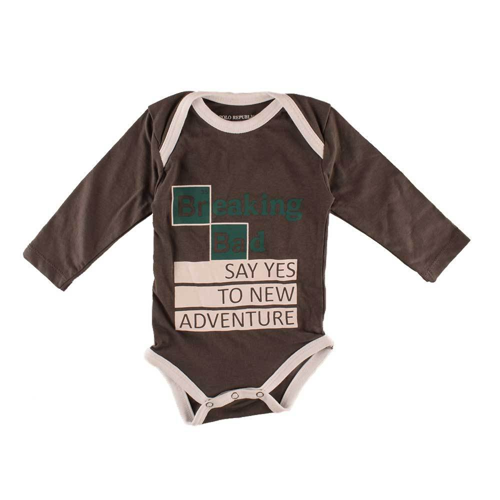 Polo Republica Kid's Breaking Bad Printed Baby Romper Babywear Polo Republica Graphite White 0-3 Months