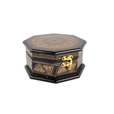 Grimstad Octagon Jewelry Box Jewellery SAK Golden