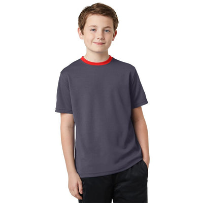 Polo Republica Kids Ringer Tee Shirt Boy's Tee Shirt Polo Republica Dark Graphite 2 Years