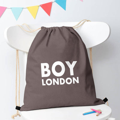 Polo Republica London Boy Drawstring Bag Drawstring Bag Polo Republica Graphite White