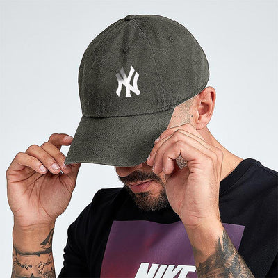 MB NY Signature Embro P Cap Headwear MB Traders Olive