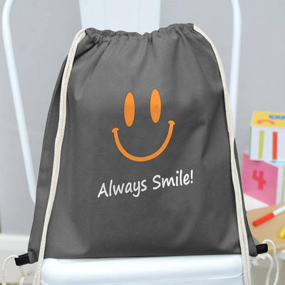 Polo Republica Always Smile Drawstring Bag Drawstring Bag Polo Republica Graphite Yellow