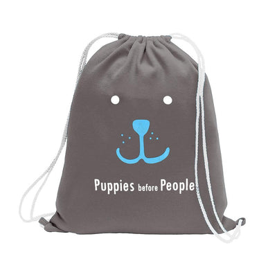Polo Republica Puppies Before People Drawstring Bag Drawstring Bag Polo Republica Graphite Sky