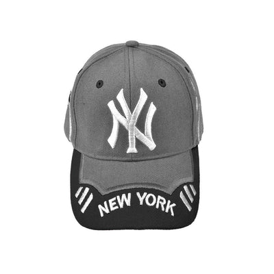 MB New York Signature Embro P Cap Headwear MB Traders Graphite