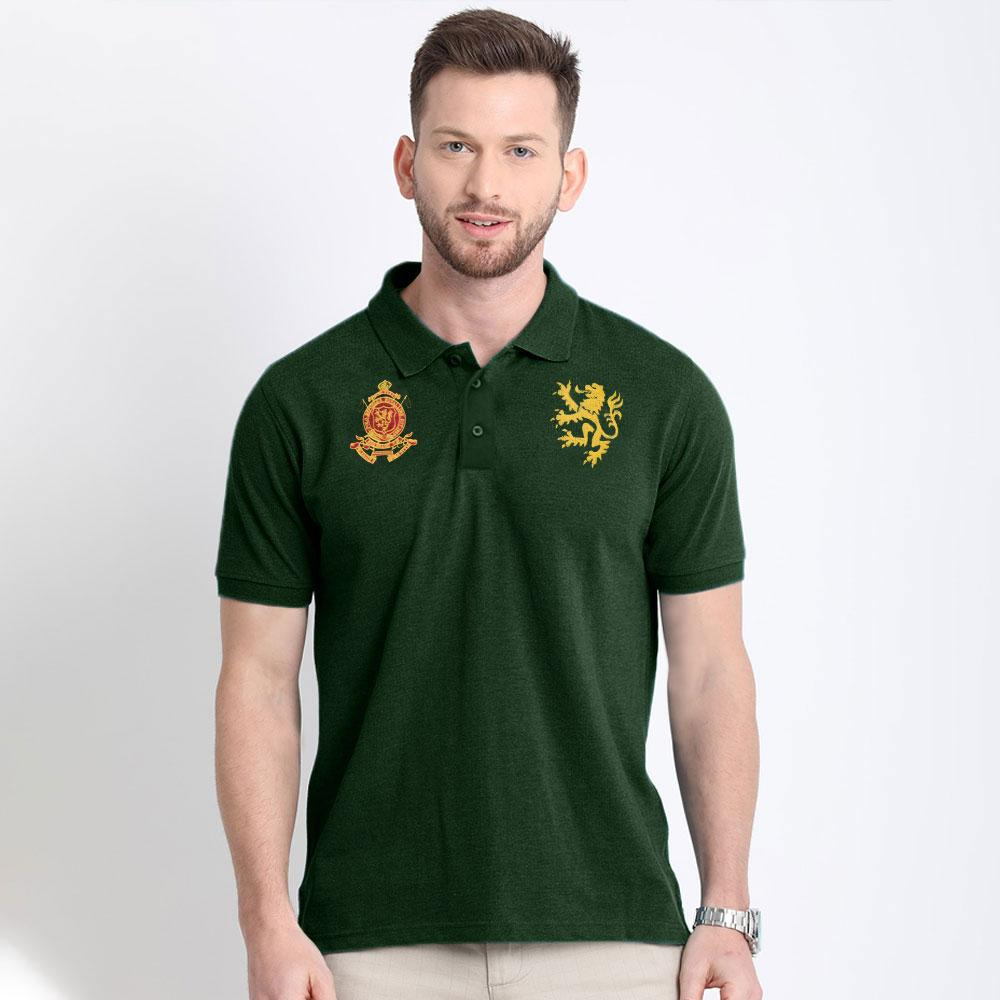 Polo Republica Men's Royal League Polo Shirt Men's Polo Shirt Polo Republica Bottle Green & Yellow S
