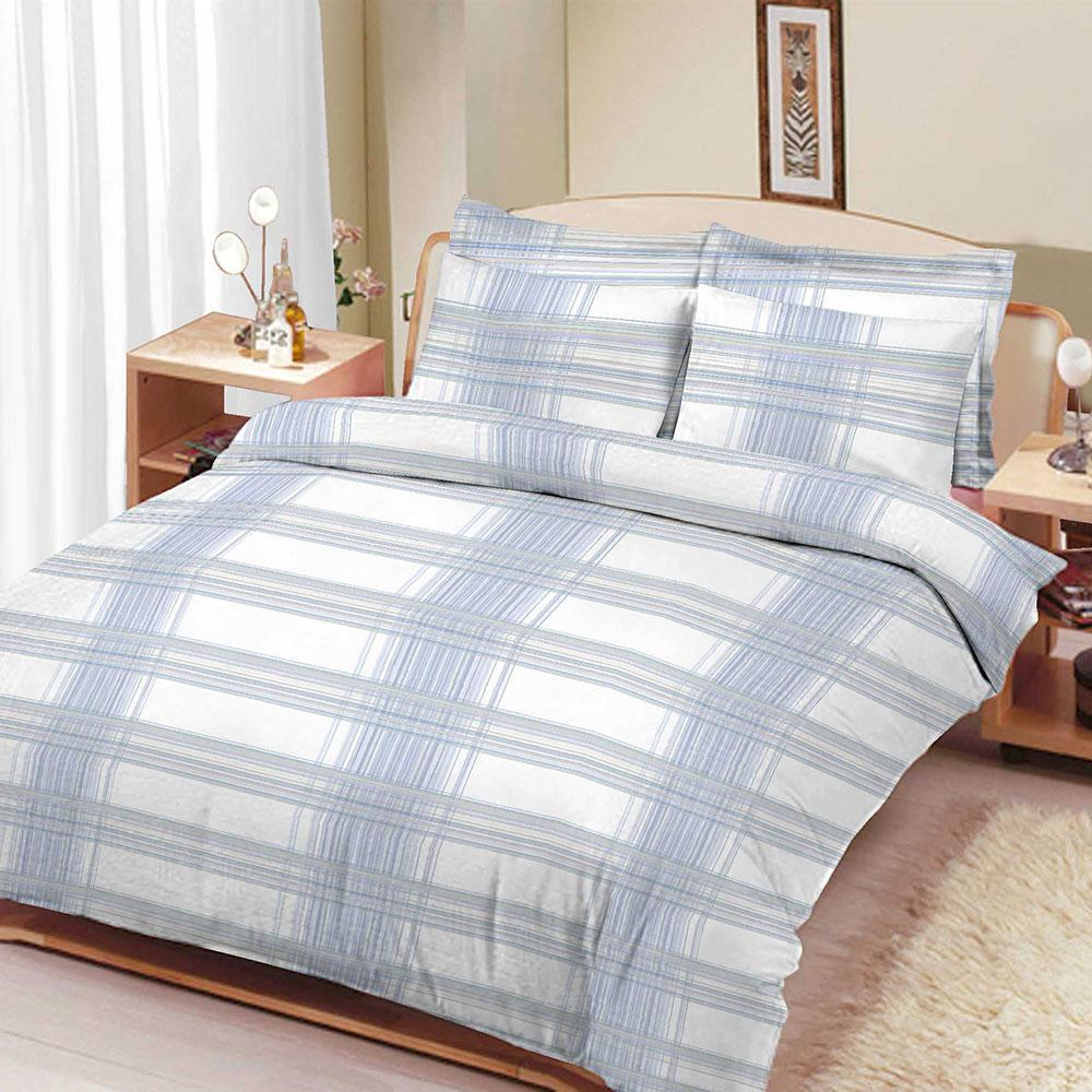 ARC Ennigerloh Elegant Feeder Stripes Double Bed Sheet Bed Sheet ARC